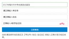 梅州中考成绩查询系统http;//cx.mzedu.gov.cn/zk/